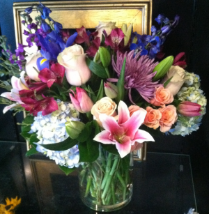 Garden Gatherings for Mom vase arrangement of mixed seasonal flowers in Bethel, CT | BETHEL FLOWER MARKET OF STONY HILL
