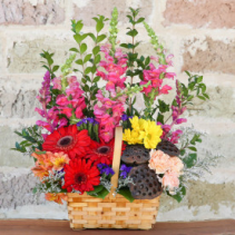 Garden Grandeur Colorful Basket