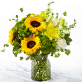 GARDEN GROWN GREEN VASE BOQUET