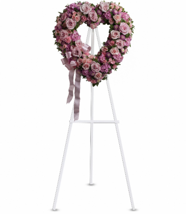 Rose Garden Heart Standing Easel