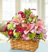 Garden Inspiration Basket of Flowers