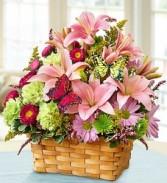 Garden Inspirations Basket Arrangment