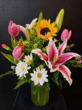 Garden Mason Jar Fresh Flower