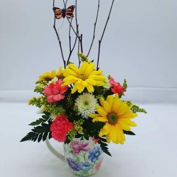 Garden Mug  Bouquet