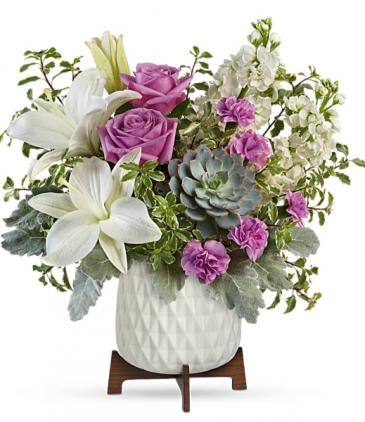 Garden Oasis Bouquet Teleflora's Mid-mod Geometric