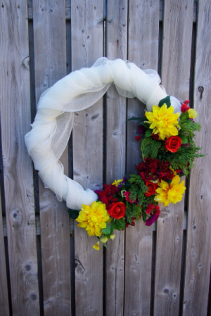 Garden of Eden Wreath Silk Wreath in Corner Brook, NL | The Orchid