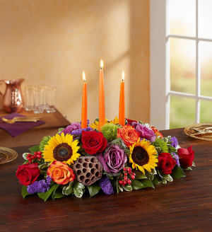 Garden of Grandeur Fall Centerpiece  in Oakdale, NY | POSH FLORAL DESIGNS INC.