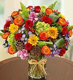 Garden of Grandeur for Fall Vase Arrangement in Sunrise, FL | FLORIST24HRS.COM