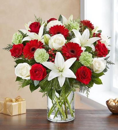 Garden of Grandeur™ Holiday Vase Arrangement