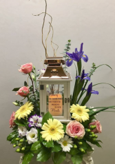 Garden of Memories Lantern Funeral Arrangement