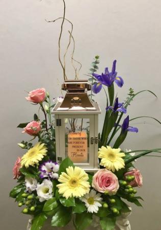 Garden of Memories Lantern Funeral Arrangement