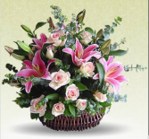 Garden of Pinks             FHF-24 Basket Arrangement
