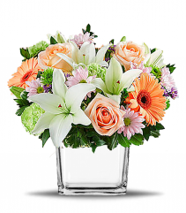 Garden of Romance Cube Vase