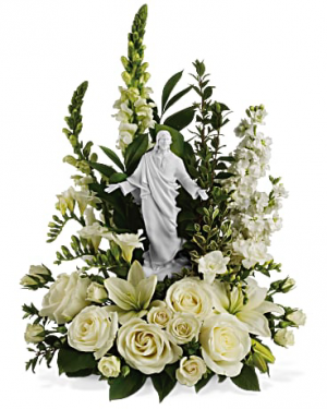 Funeral flowers from breitingers flowers gifts your local white garden of serenity comfort in christ in white oak pa breitingers flowers gifts mightylinksfo