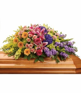 Garden of Sweet Memories Casket Spray H2674A