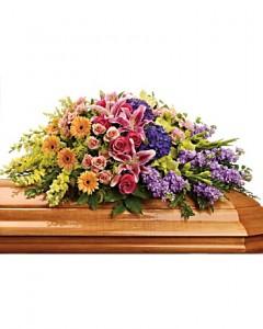 Garden Of Sweet Memories Casket Spray Sympathy Arrangement