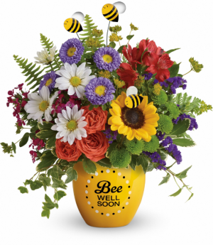 Garden Of Wellness One-Sided Floral Arrangement (Container out of stock) in Winnipeg, MB | KINGS FLORIST LTD