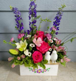 Garden Paradise Wood Box in Longview, WA | Banda's Bouquets