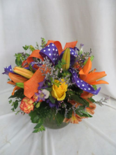 Garden Party Fresh Mixed Vased Arrangement