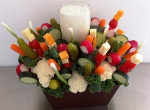Veggie Garden Party Vegetable Arrangement.   Please give us 24 hrs notice. in Springfield, IL | FLOWERS BY MARY LOU INC