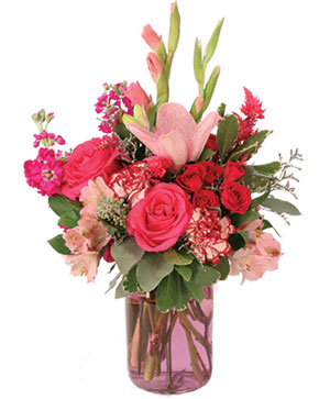 Garden Pink Flower Arrangement in Pelican Rapids, MN | Brown Eyed Susans Floral