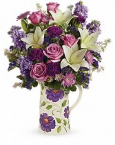 Garden Pitcher Bouquet One sided