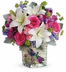 Garden Poetry Bouquet    T18M405A Floral Keepsake Arrangement