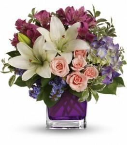 Garden Romance Bouquet Cube Arrangement