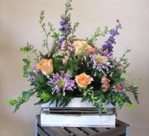 Garden Romance Custom Fitzgerald Flowers Arrangement in La Grande, OR | FITZGERALD FLOWERS