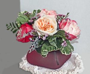 Garden Rose Bouquet Garden roses in a vase in Penn Yan, NY   Garden of Life Flowers