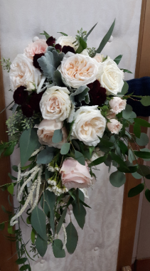 Garden Rose Cascade Bridal Bouquet