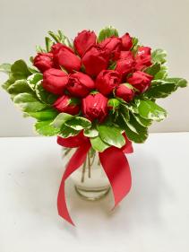 Garden Rose Rapose European hand-tied bouquet