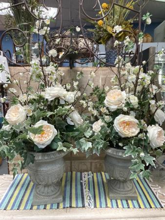 Garden Rose Urn Arrangement  Rental