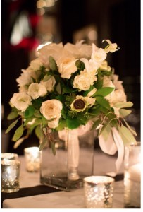 Garden Roses and Anemonies Bridal Bouquet