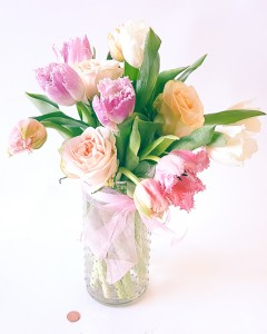 Garden Roses and Frill Tulips