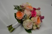 garden roses bridal bouquet wedding