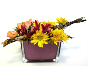 Garden Smile Container Arrangement in Invermere, BC | INSPIRE FLORAL BOUTIQUE