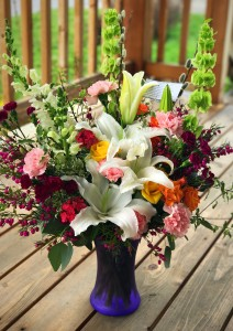 Garden Spring Bouquet  Vase Arrangement
