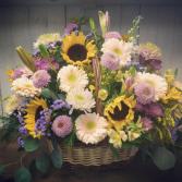 Garden Style Basket Funeral