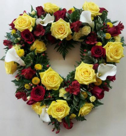 Garden Style Heart Sympathy Flowers