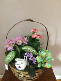 garden tea party planter basket