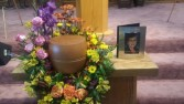 Garden Urn Arrangement - AWF4A Urn and Photo Frame not included