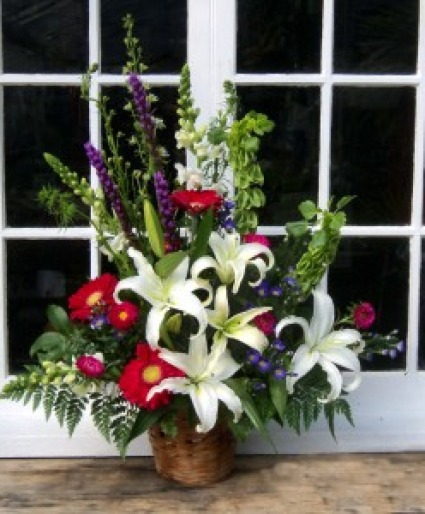 Garden View Basket  Funeral arrangement