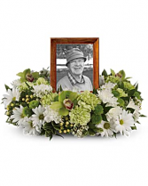 Garden Wreath Cremation Flowers   (urn not included)