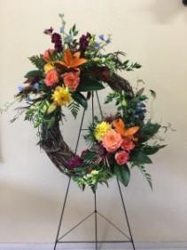 Garden Wreath Custom Fitzgerald Flowers