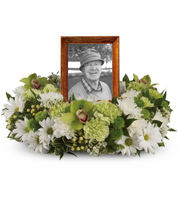 Garden Wreath Funeral Arrangement