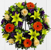 Garden Wreath Funeral Flowers