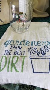 Gardeners Towel & Glass Gift