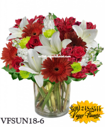 COLOR OF LOVE FLORAL ARRANGEMENT