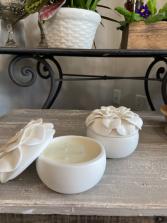 Gardenia Porcelain Candle  Gardenia Porcelain candle keepsake